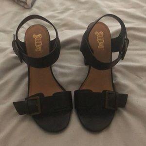 Chunky goth heels